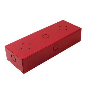 Caja de metal roja para montaje en superficie de anunciador 4606-9202