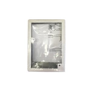 Adaptador para montaje en superficie color blanco de sirena con estrobo de montaje en...