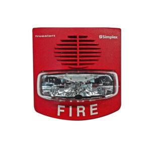 Notificación audible/visible Color Rojo para Muro con operación SmartSync con sirena y destello
