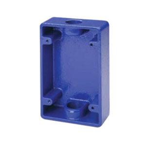 Caja de superficie azul para estación manual de emergencia 491