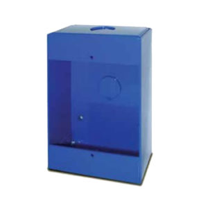 Caja de montaje en superficie azul para estación manual de emergencia 492
