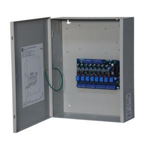Controlador de energía de acceso, 8 salidas de relé con fusible, FAI, caja BC400