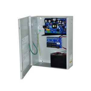 8 Output Power Supply-12VDC @ 10 amp, fused non-power limited outputs, AC & battery...