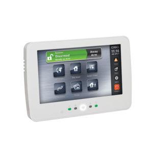 Teclado de pantalla táctil cableado blanco de 7 pulgadas para paneles de control PowerSeries...