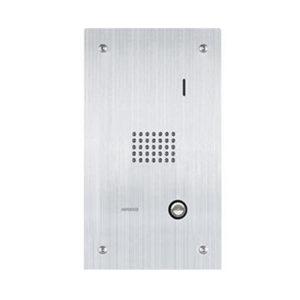 Estación de puerta con audio, montaje empotrado de acero inoxidable