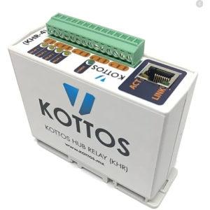 Concentrador de relevadores  para automatizaciones con sistema Kottos, hasta 4 relevadores.