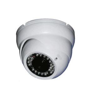 Cámara tipo domo antivandálica, Sensor CCD 1/3  SONY Effio-E, Resolución 700 TVL, Lente fijo 3.6mm