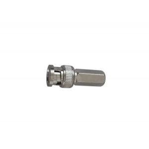 Conector BNC de roscar para cable RG-59, Impedancia 75O