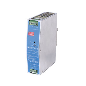 Fuente de poder, entrada 90~264 VAC, salida 48VDC/75W, – 20 C a 70 C
