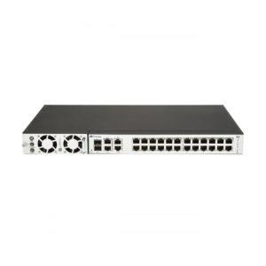 Switch administrable FLEX de 24 puertos de largo alcance / 2 o 4 pares UTP PoE / 50 vatios