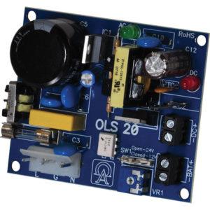 Cargador de fuente de alimentación, salida única, 12VDC 1A o 24VDC .5A, 115VAC, placa