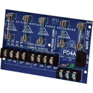 Módulo de distribución de energía, 4 salidas con fusible hasta 28 VCA / VCC,...