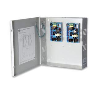 Fuente de alimentación CCTV, 18 salidas PTC clase 2, 12VDC a 11A, 115VAC, caja...