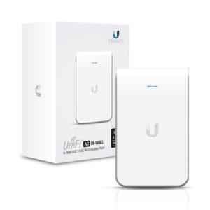Access Point UniFI doble banda cobertura 180° MIMO 2×2 diseño placa de pared