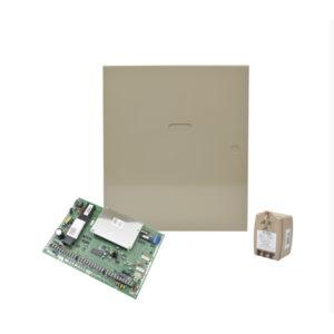 Panel de Alarma Híbrido Cableado convencional, Inalambrico y Vplex para 86 zonas