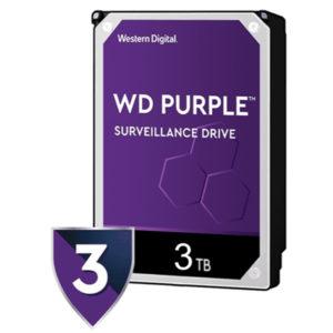 DISCO DURO INTERNO PC NEW WESTERN DIGITAL PURPLE SURVEILLANCE 3TB SATA 3.5P WD30PURZ